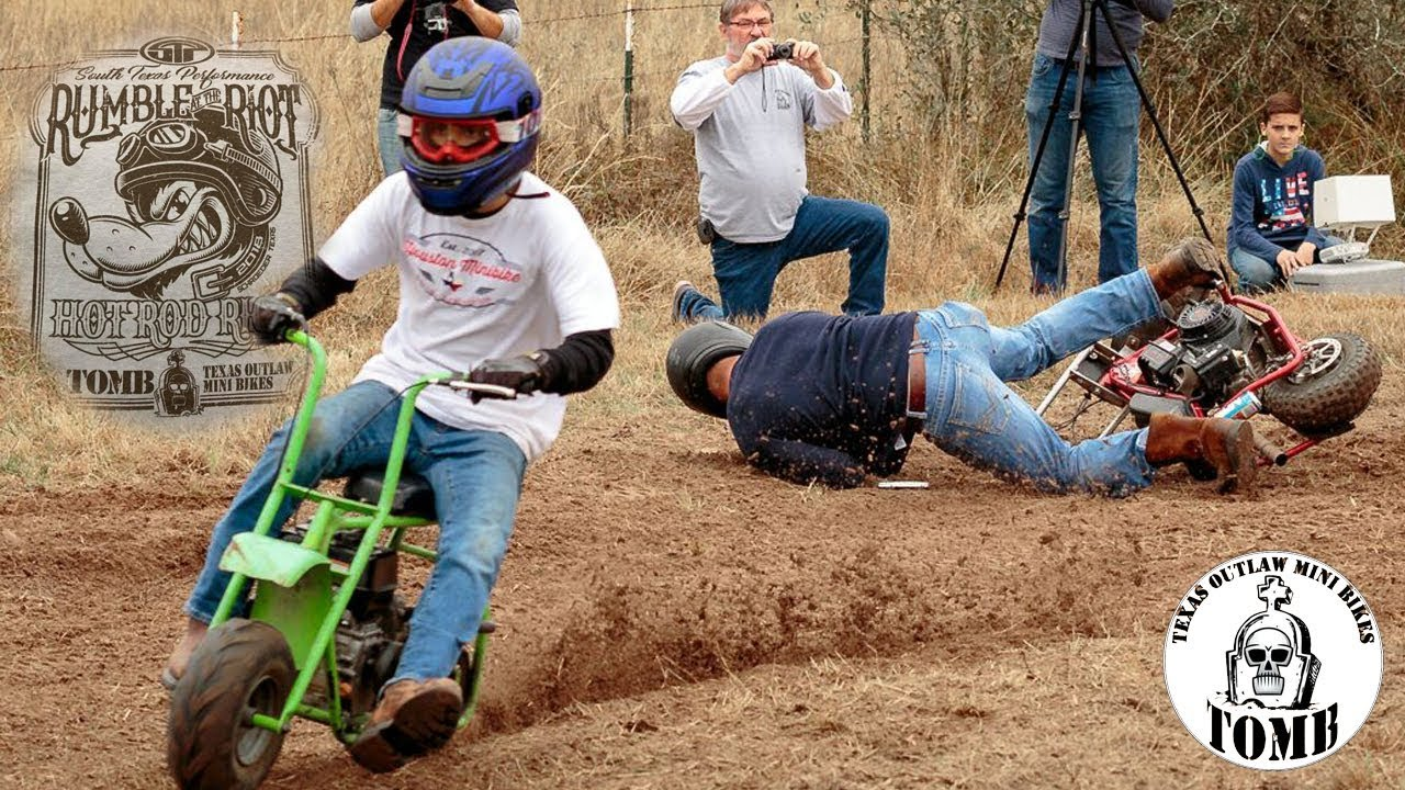 mini bike dirt track racing at hot rod riot feat texas. Black Bedroom Furniture Sets. Home Design Ideas