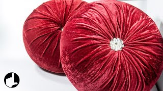 DIY Decoration Ideas for Home: Round Pleated Pillows by HandiWorks #123