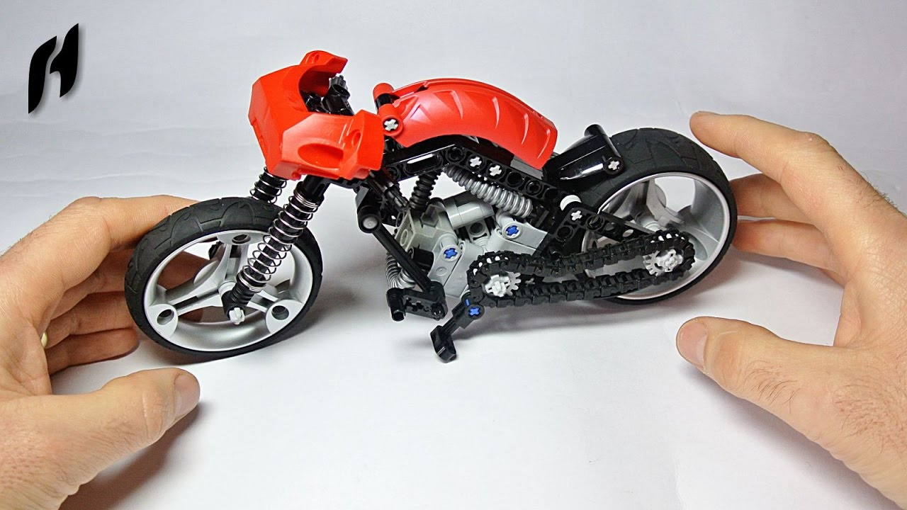 How To Build The Lego Technic Chopper Moc Youtube