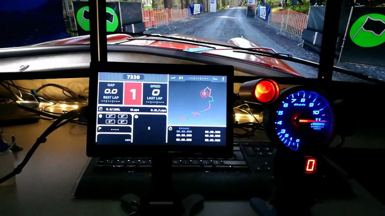 SimHub - dirt 4 dash, tachometer, maps and speed indicator