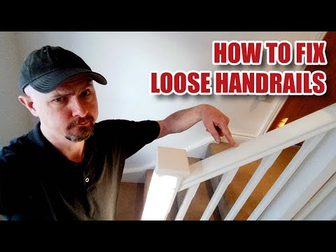 How to Fix LOOSE HANDRAILS / Banisters on a Staircase - Joinery Vlog [86]