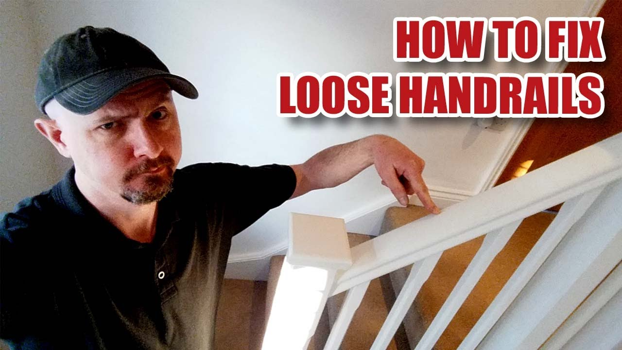 How I Fix Loose Handrails Banisters On A Staircase 86 Youtube