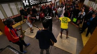 NYC Subway Buskers - Tap Dancing - May 5 2013 14th St Union Square L Train