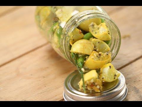 Lemon Green Chilli PIckle   Sanjeev Kapoor Khazana