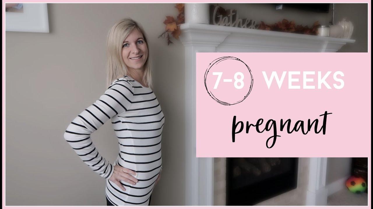 7-8 WEEKS PREGNANT W/ TWINS | MORNING SICKNESS , ULTRASOUND & HEARTBEATS,  MORE BLEEDING & BELLY SHOT