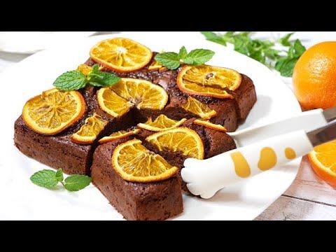 爽やかオレンジブラウニー【板チョコとホットケーキミックスで作る】refreshing-orange-brownie!【make-with-chocolate-and-pancake-mix】