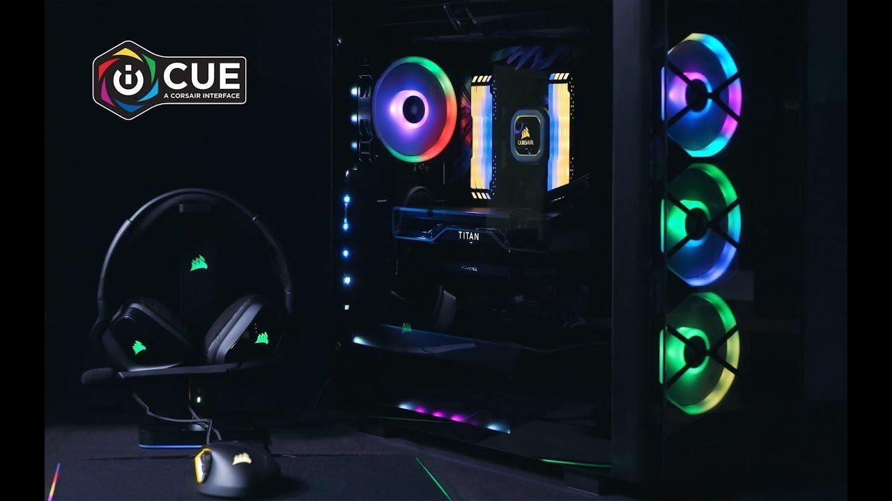RGB的正確玩法?海盜船iCUE燈效體驗 - YouTube