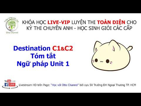 DESTINATION C1&C2 - UNIT 1 - TÓM TẮT NGỮ PHÁP