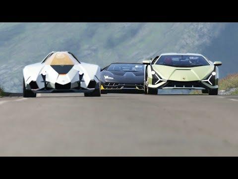 Lamborghini Sian FKP 37 vs Lamborghini Egoista vs Lamborghini Centenario at Highlands