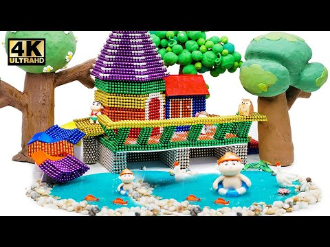 DIY – How To Build Mini Tree House From Magnetic Balls ( Satisfying ) | Magnet World 4K