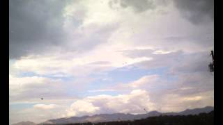 Nogales Monsoon; 7-4-2014; Part 2; Cumulus to Cumulonimbus to thunderstorm (RD 00005)