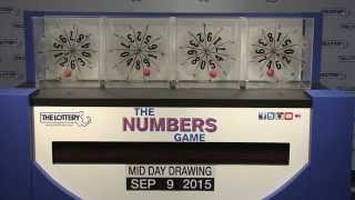 Midday Numbers Game Drawing: Wednesday, September 9, 2015
