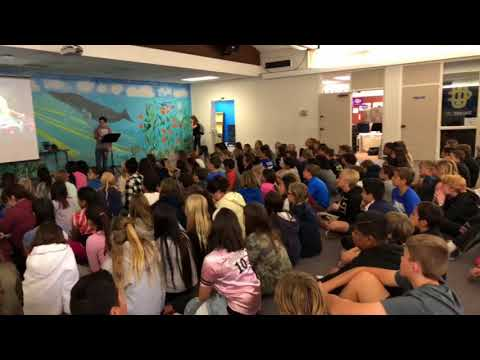Pete's Diary Visits Niguel Hills Middle School