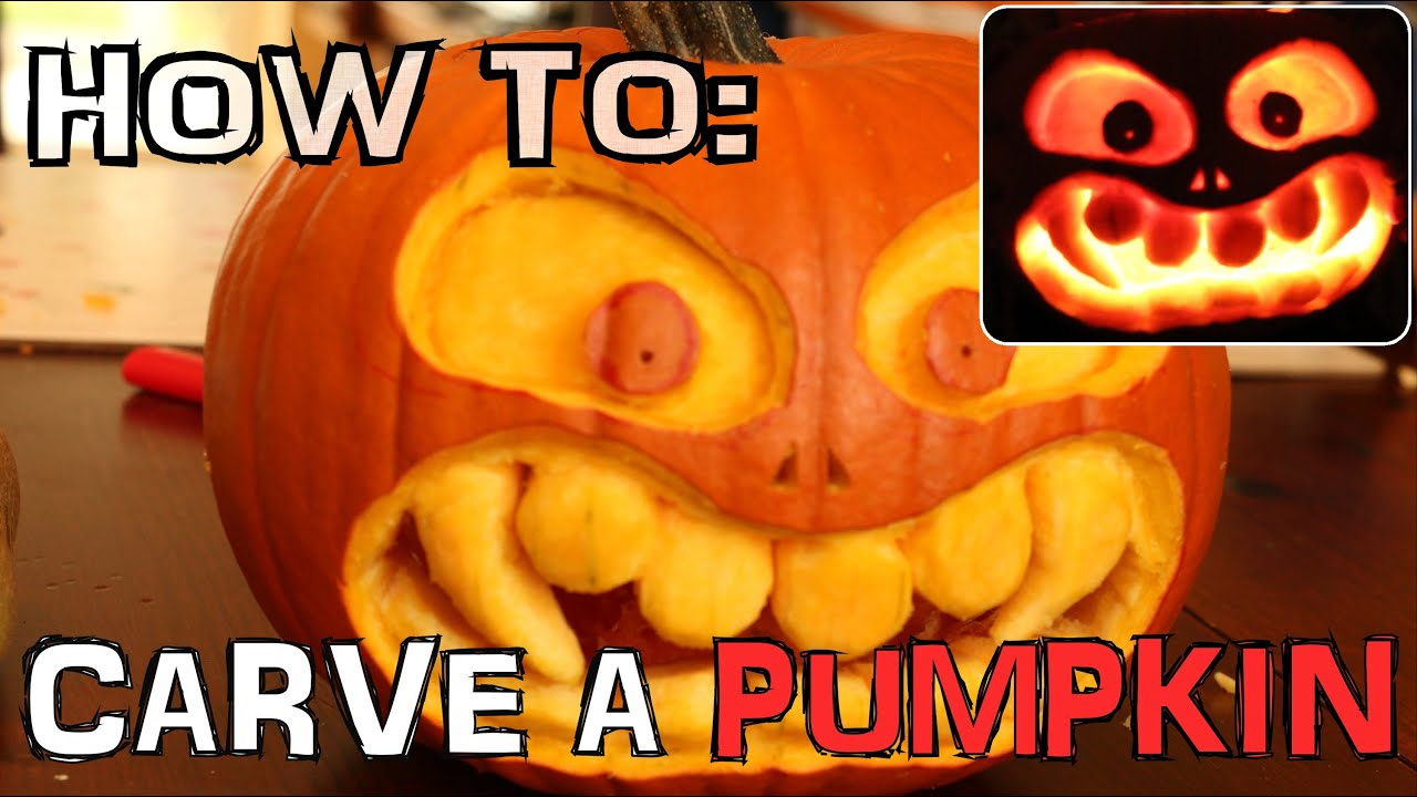 How to carve a scary pumpkin for halloween with knife only - no ...
