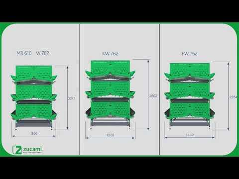Трансформируемые клетки улучшенной конструкции для несушек MEC W