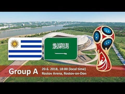 World cup 2018. Game 18 of 64. Uruguay vs Saudi Arabia