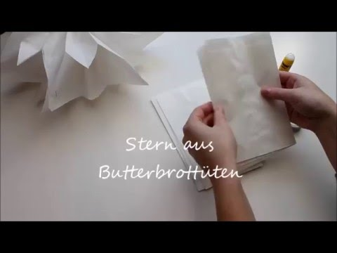 stern aus butterbrotpapier youtube. Black Bedroom Furniture Sets. Home Design Ideas