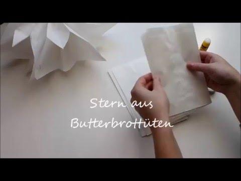 Stern Aus Butterbrotpapier Youtube
