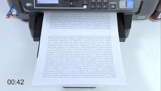 Epson XP-425: тест на скорость печати текста