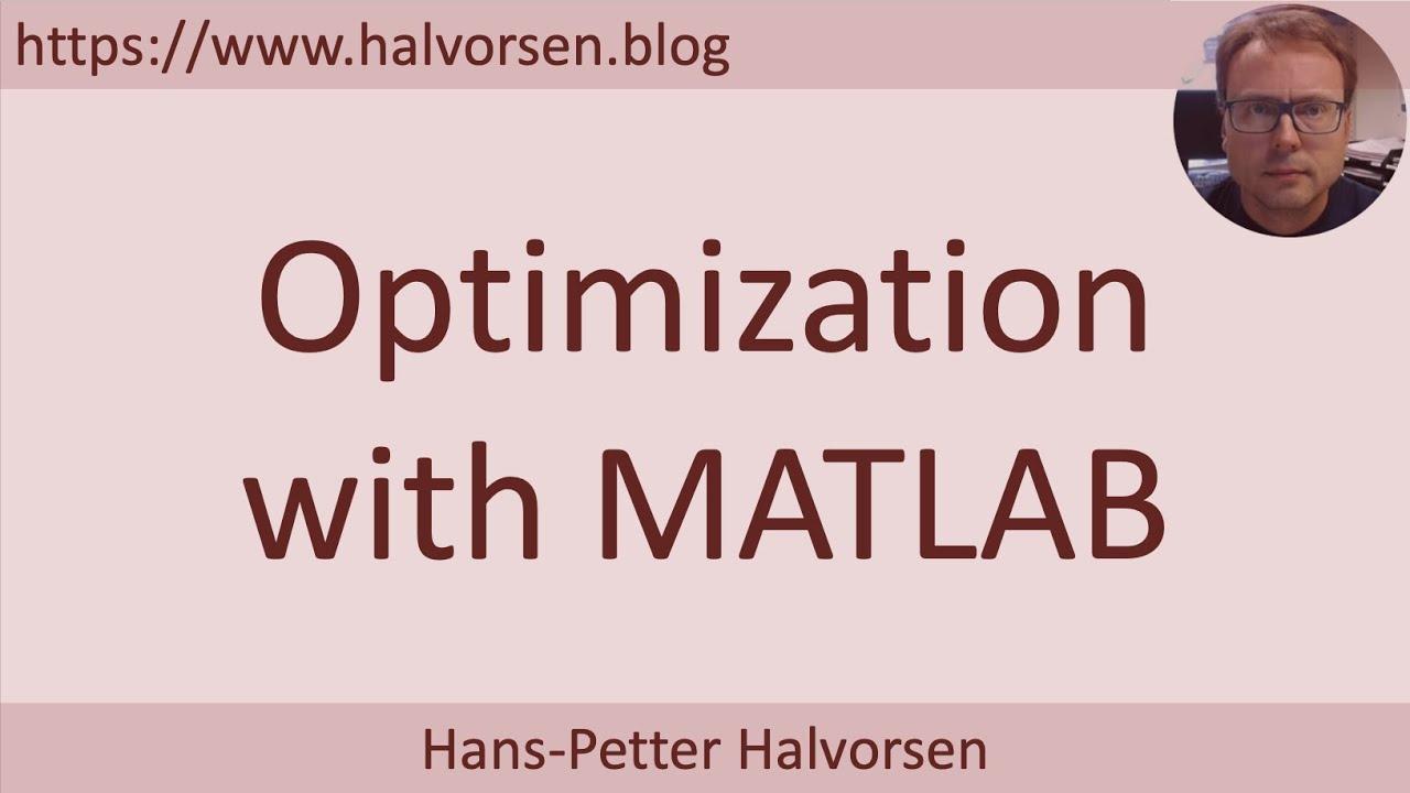 MATLAB - Optimization
