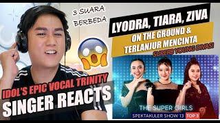 Download Mp3 Lyodra Tiara Ziva On The Ground Terlanjur Mencinta Indonesian Idol 2021 REACTION