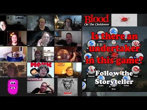 Follow me storytelling Blood on the Clocktower: Trouble Brewing with 12 players Game #2