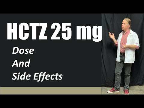 HCTZ 25 Mg Dose And Side Effects
