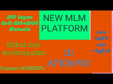 NEW MLM PLAN NO left no right non working plan