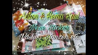 Action & Hema Shopping / HAUL 16.06.18 ! { Neue Sticker, Washis, Stanzen etc. } !