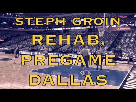 Steph Curry (strained groin rehab) splashes pregame Warriors (12-4) before Mavericks in Dallas