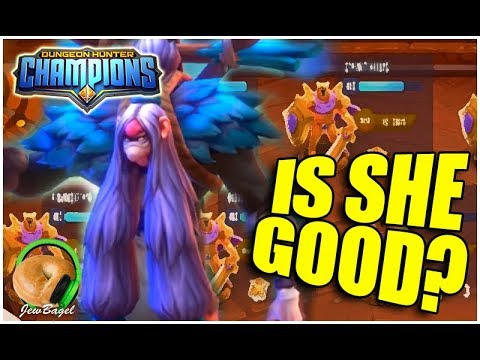 DUNGEON HUNTER CHAMPIONS: Is Water Crow Hag One Of The Best Nat 3's? (Wrona Guild War)