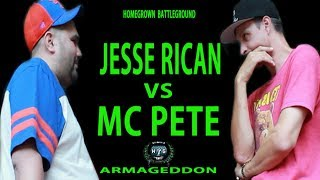 40oz Jesse Rican vs MC PETE | Homegrown Battleground | Hosted By QP