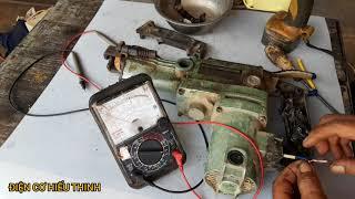 Sửa máy khoan đục đá HITACHI FR38E  bị mất điện đột ngột.
