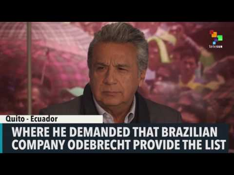 Ecuador's Moreno Demands Odebrecht Bribery List
