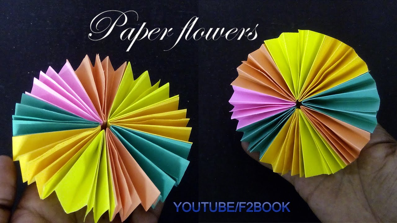 How to make paper flower simple way tutorial f2book video how to make paper flower simple way tutorial f2book video 140 mightylinksfo