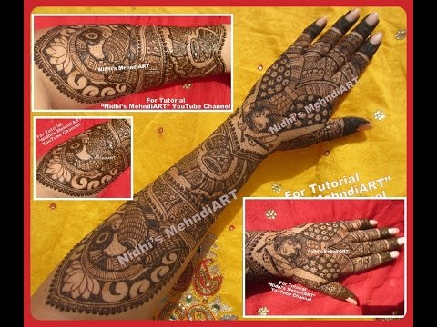 NEW Full Hand Traditional Unique BRIDAL WEDDING Henna Mehndi Design Tutorial