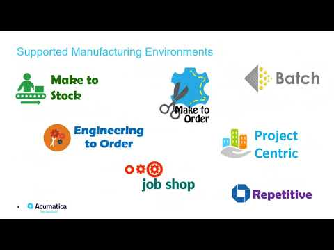 Acumatica ERP Consultant:  Automate Production Scheduling