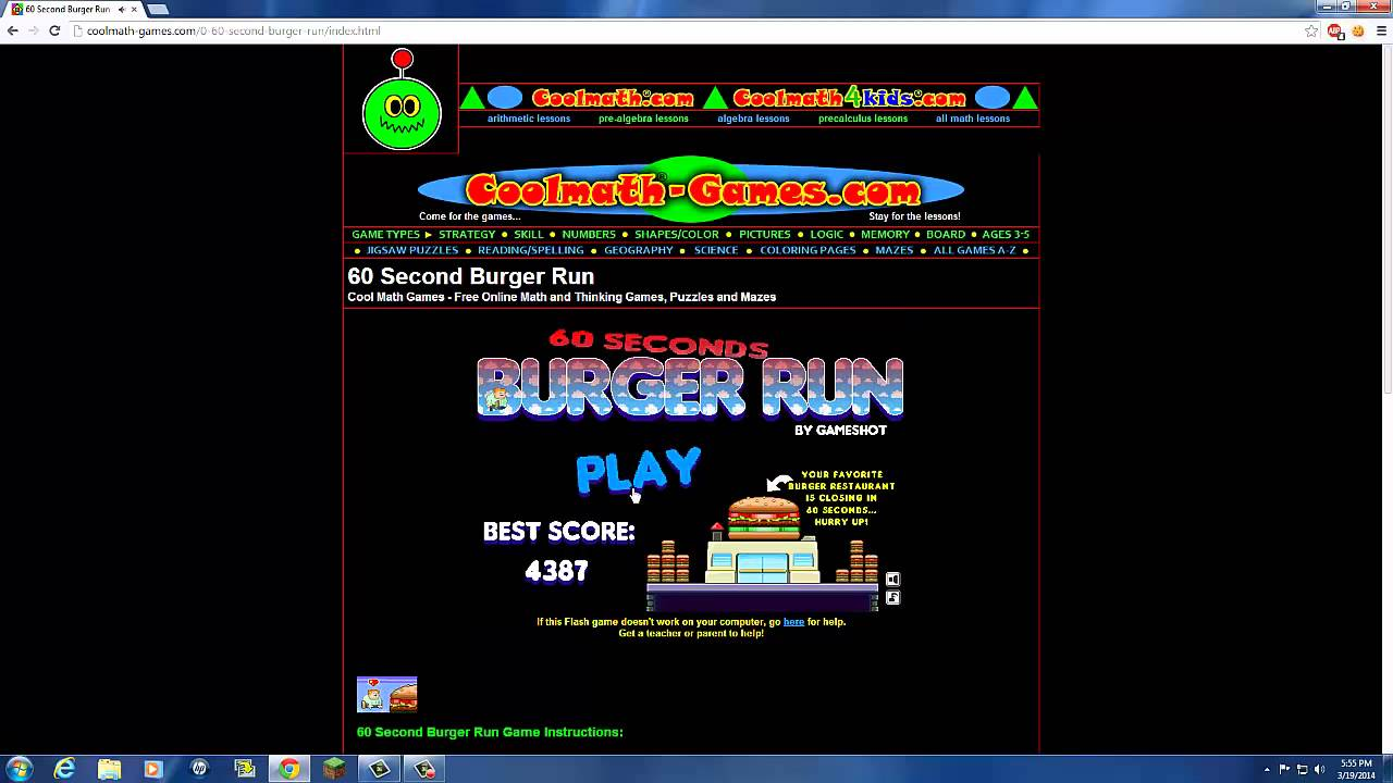 60 second burger run finishing the game youtube