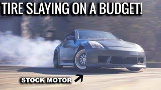 INCREDIBLE Street Drifting in Stock 350Z!