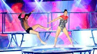 Flor Marcasoli y Lucas Velazco impactaron con su propuesta en el Aquadance