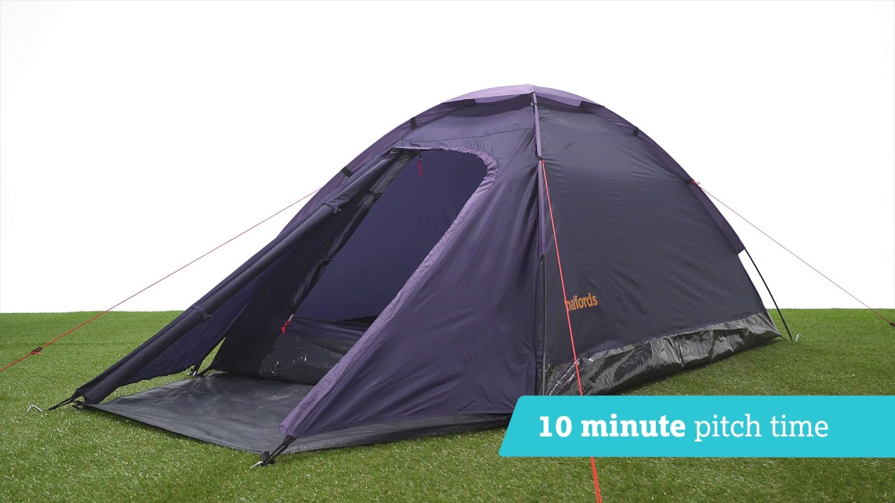 Halfords 2 Person Dome Tent With Porch Dark Blue