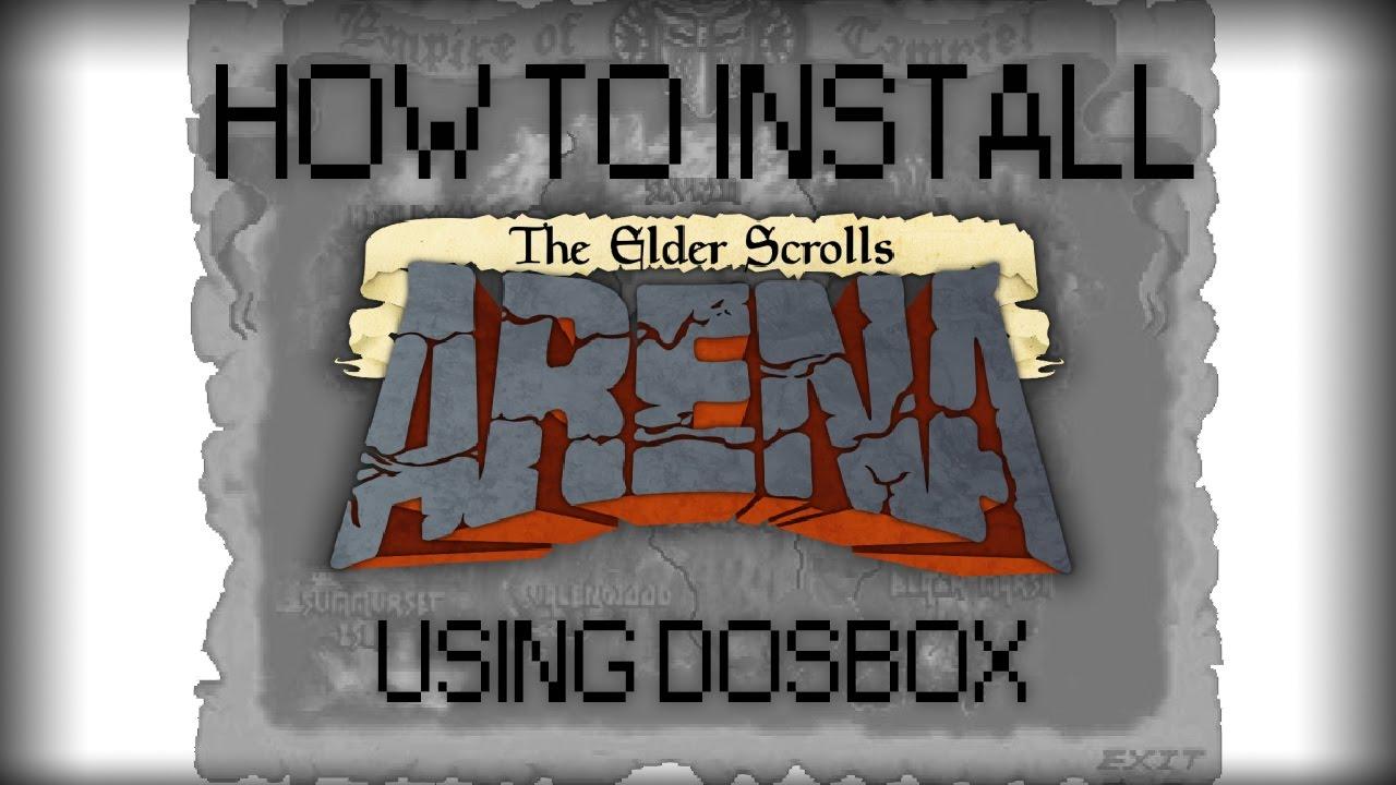Guide to Installing The Elder Scrolls I: Arena using DOSBox