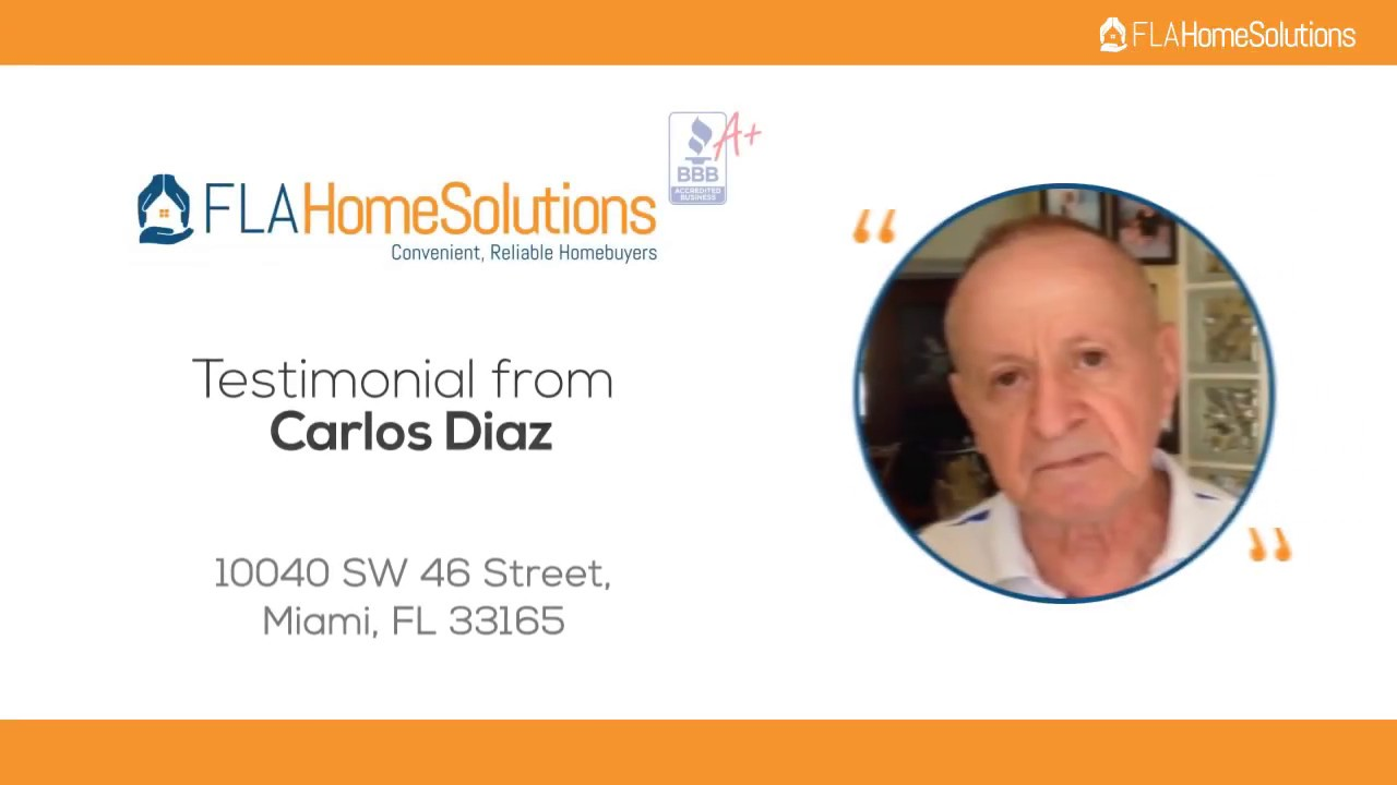 Visit www.FLAHomeSolutions.com or Call 305-602-4105 - Carlos' Testimonial for Creative RE-Solutions