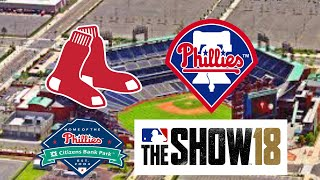 MLB The Show 18 (PS4) - Red Sox vs Phillies Game 1 (Full Broadcast Presntation)
