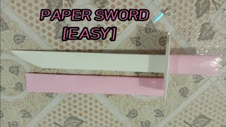 How to Make a Paper Sword   Ninja Sword   Tutorial Make a Paper Sword Ninja
