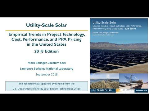 Utility-Scale Solar 2018 Edition, September 20, 2018 Webinar