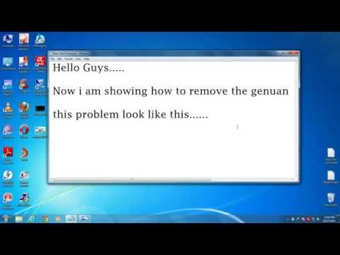 How Remove Windows 7 Genuine Notification Error From Your Computer And Laptop ALSO