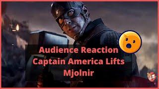 Cinema Audience Reaction to Captain America Holding Thor's Hammer Avengers Endgame