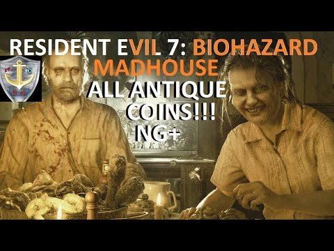 Resident Evil 7 madhouse mode all 33 coin location FULL PLAY