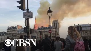 Officials begin assessing fire damage at Notre Dame Cathedral